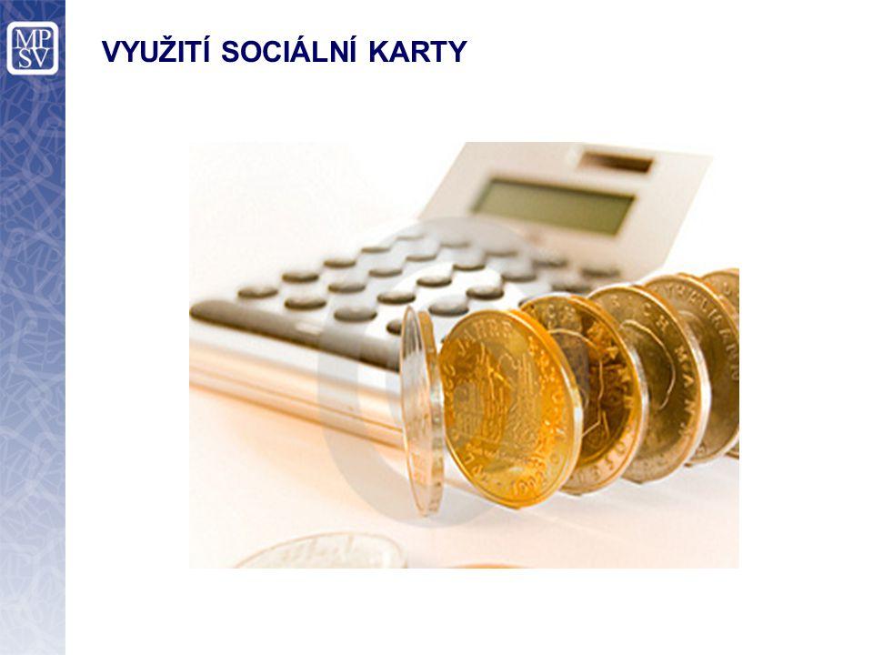 VYUŽITÍ SOCIÁLNÍ KARTY I/III Ve veřejném sektoru Sociální kartou se bude uživatel identifikovat vůči orgánům v sociální oblasti Sociální karty budou vydávány osobám nově vstupujícím do sociálního systému.