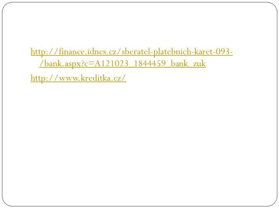http://finance.idnes.cz/sberatel-platebnich-karet-093- /bank.aspx c=A121023_1844459_bank_zuk http://www.kreditka.cz/