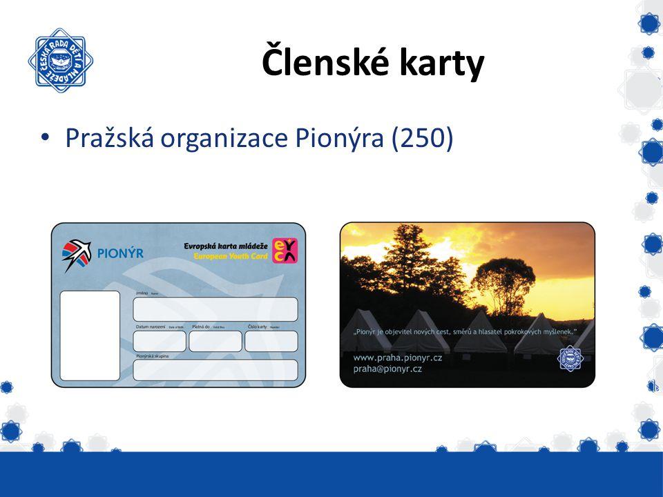 Členské karty Pražská organizace Pionýra (250)