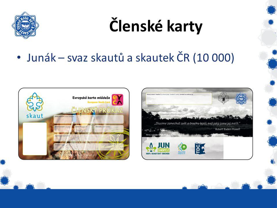 Členské karty Junák – svaz skautů a skautek ČR (10 000)