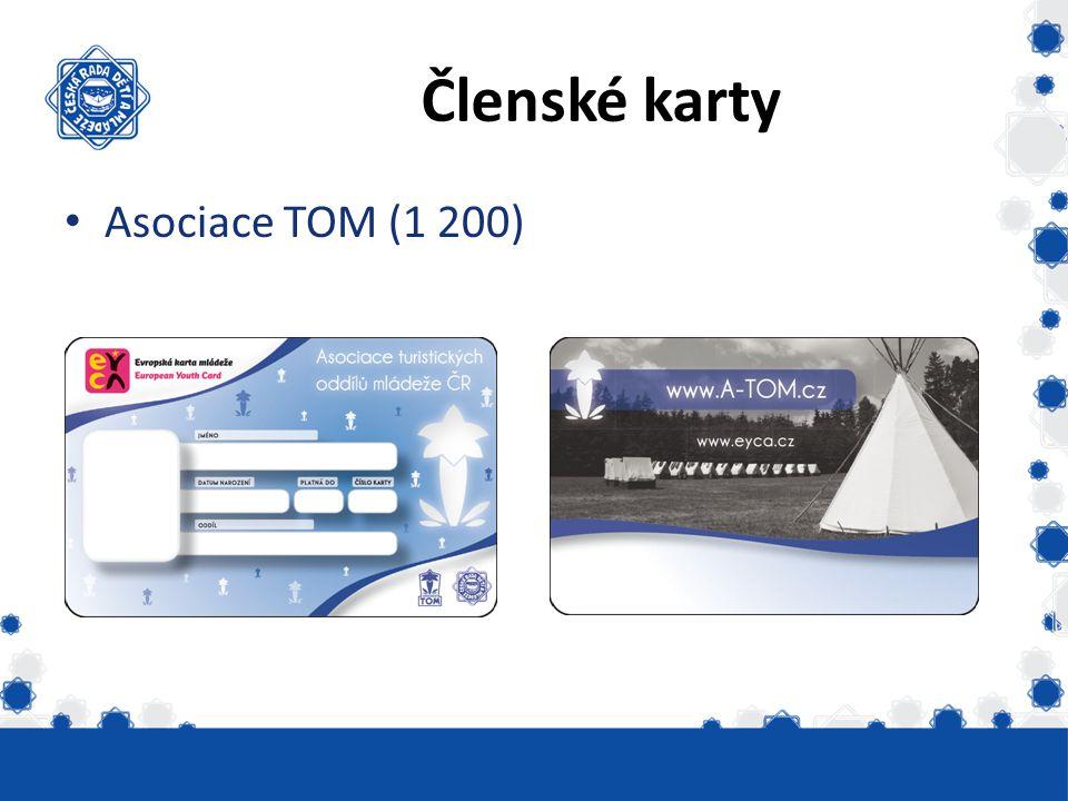 Členské karty Asociace TOM (1 200)