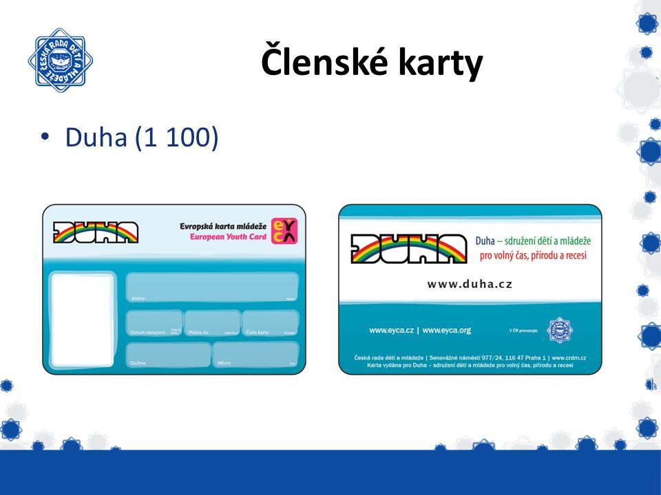 Členské karty Duha (1 100)