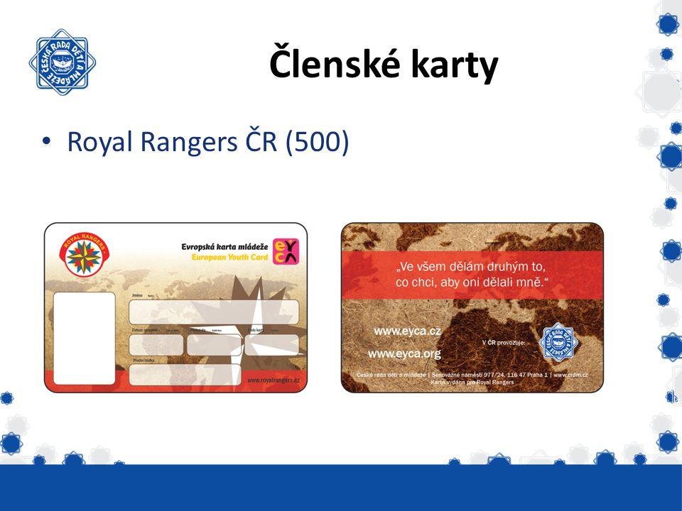 Členské karty Royal Rangers ČR (500)