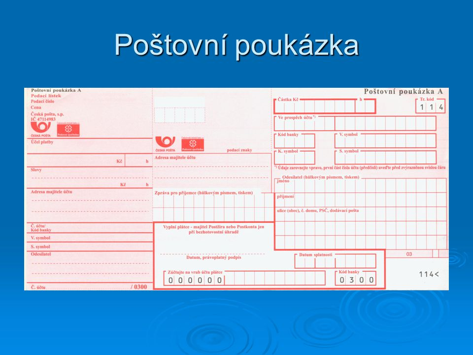 Poštovní poukázka