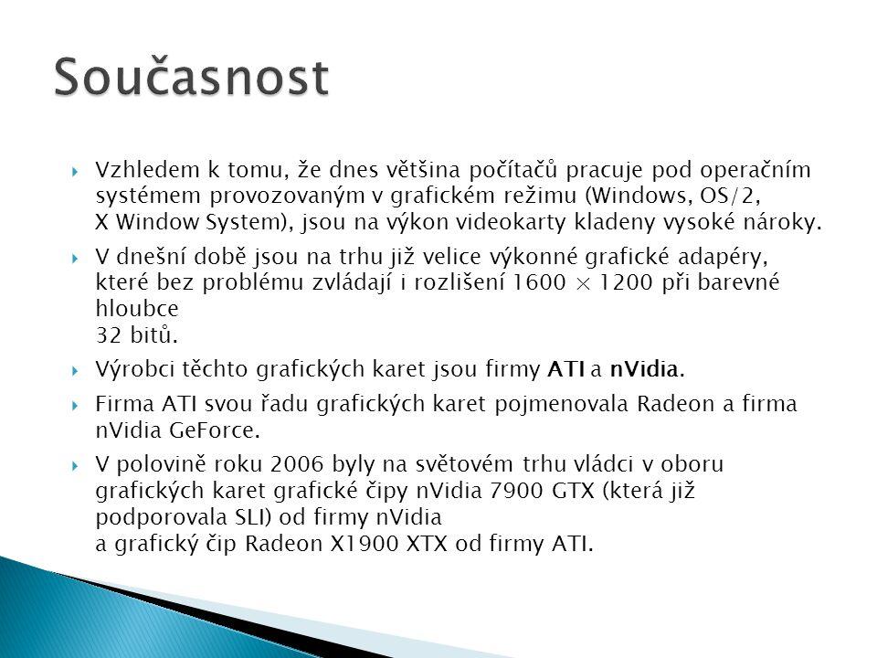 Vzhledem k tomu, že dnes většina počítačů pracuje pod operačním systémem provozovaným v grafickém režimu (Windows, OS/2, X Window System), jsou na v
