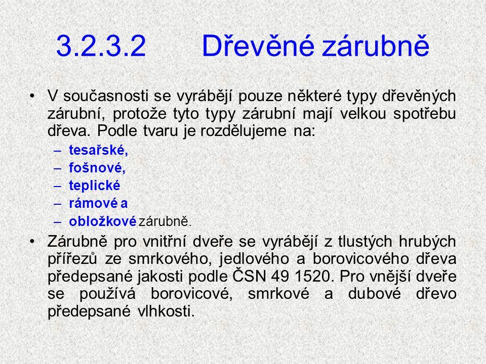 2.3.3.1 Osazování zárubní Zárubně se osazují zároveň s vyzdíváním ostění nebo až po dokončení omítek.