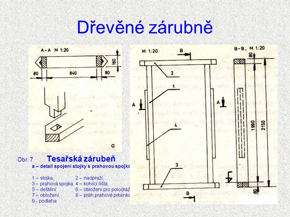 Dřevěné zárubně Tesařské zárubně Tesařské zárubně (viz obr.