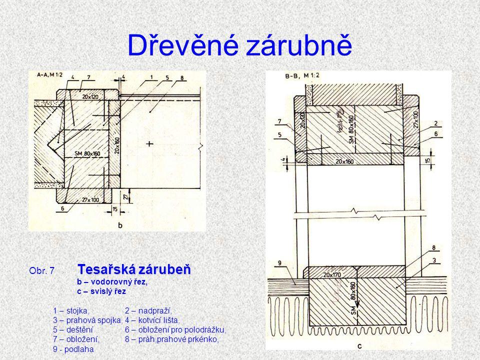 Dřevěné zárubně Tesařská zárubeň Obr.