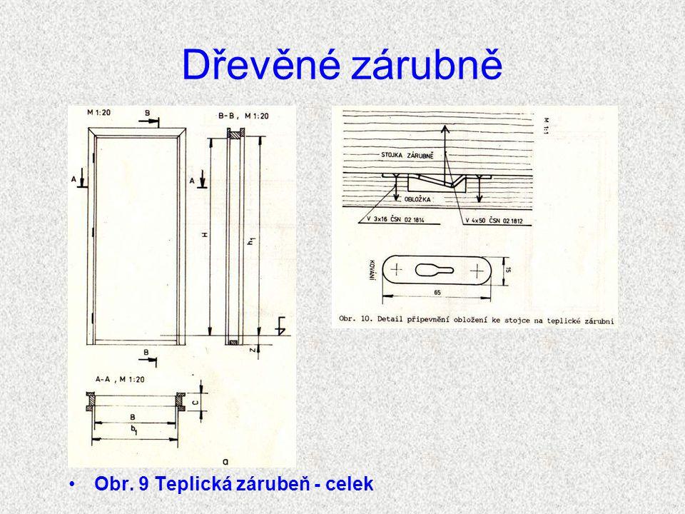 Dřevěné zárubně Teplické zárubně Teplické zárubně (obr.