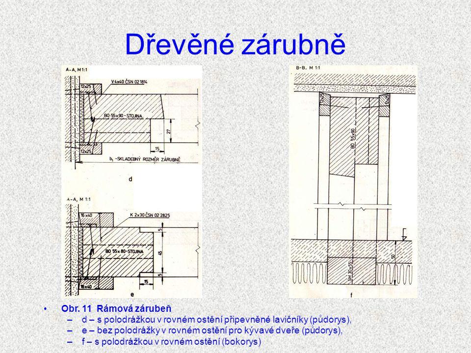 Dřevěné zárubně Obr.