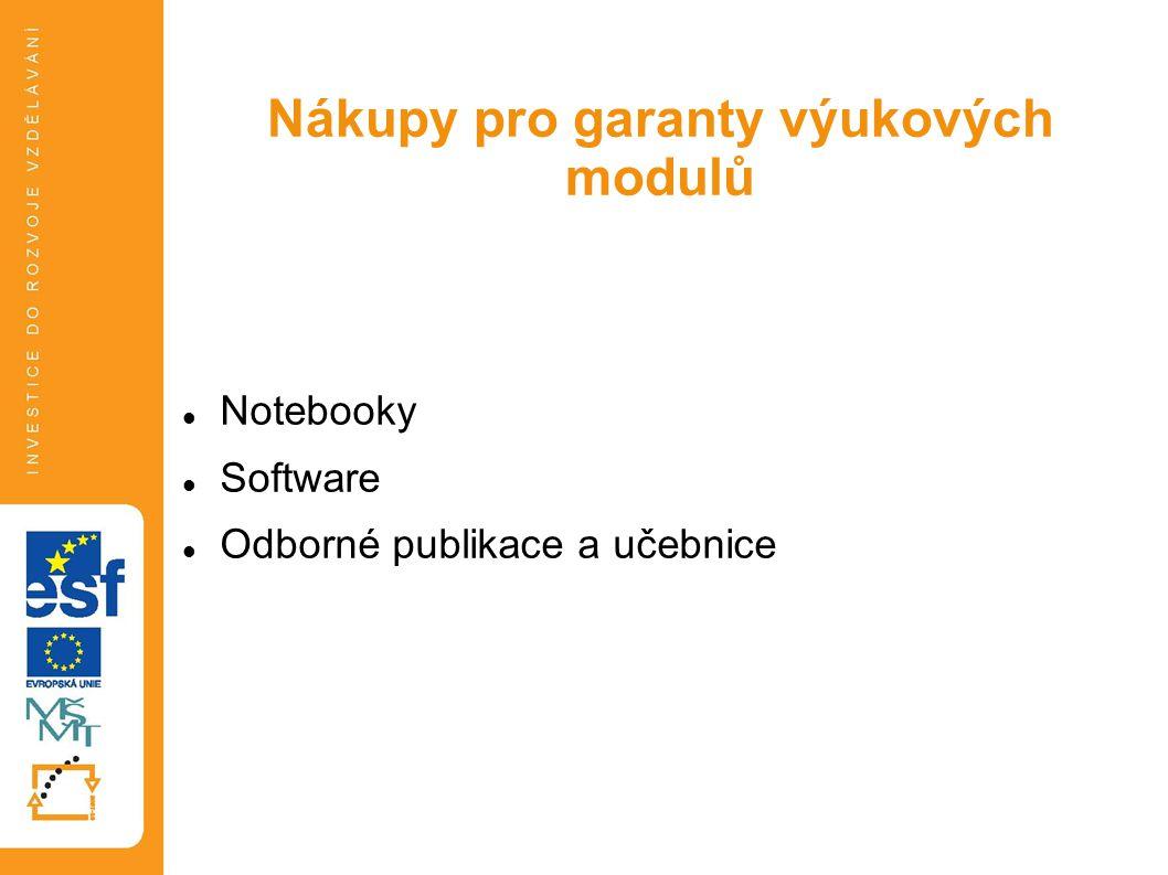 Notebooky Software Odborné publikace a učebnice Tato prezentace je spolufinancována Evropským sociálním fondem a státním rozpočtem České republiky. Ná