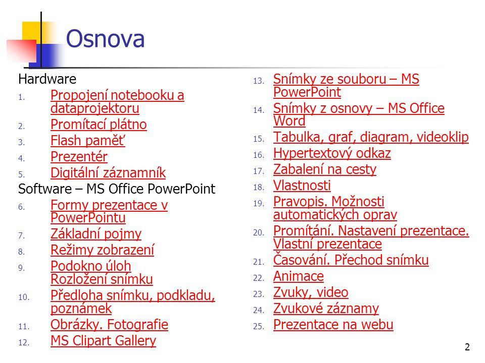 13 9 Podokna úloh Rozložení snímku...Klipart Zdroje informací Schránka Nová prezentace...