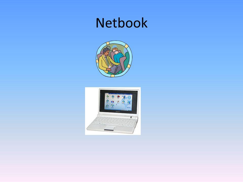 Netbooky používají méně náročné operační systémy (zpravidla Linux, Windows XP či Windows CE) s procesory s nízkým odběrem elektrické energie jako jsou Intel Atom, VIA C7, VIA Nano či AMD Geode.LinuxWindows XPWindows CEIntel AtomVIA C7VIA NanoAMD Geode Vzhledem ke svým malým rozměrům a hmotnosti a důrazem na nízkou spotřebu energie netbooky nemají CD-ROM/DVD-ROM, popřípadě je tato prodávána jako příslušenství.CD-ROM/DVD-ROM Taktéž harddisky jsou menších rozměrů než u běžných osobních počítačů (2,5 nebo 1,8 palce) nebo jsou použity tzv.