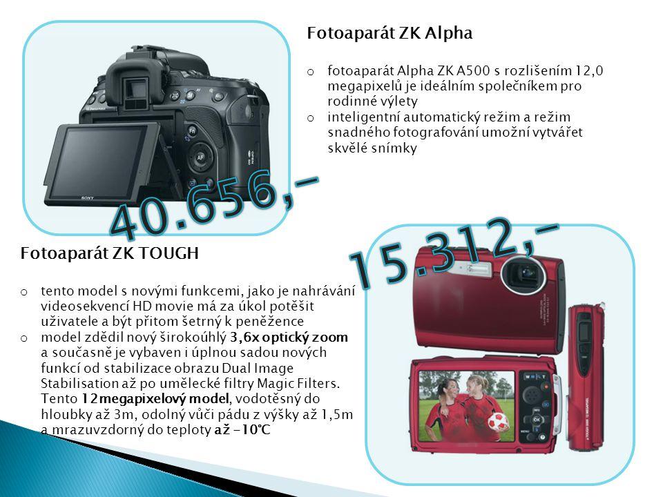 Fotoaparát ZK Alpha o fotoaparát Alpha ZK A500 s rozlišením 12,0 megapixelů je ideálním společníkem pro rodinné výlety o inteligentní automatický reži