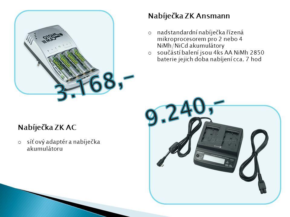 Nabíječka ZK Ansmann o nadstandardní nabíječka řízená mikroprocesorem pro 2 nebo 4 NiMh/NiCd akumulátory o součástí balení jsou 4ks AA NiMh 2850 bater