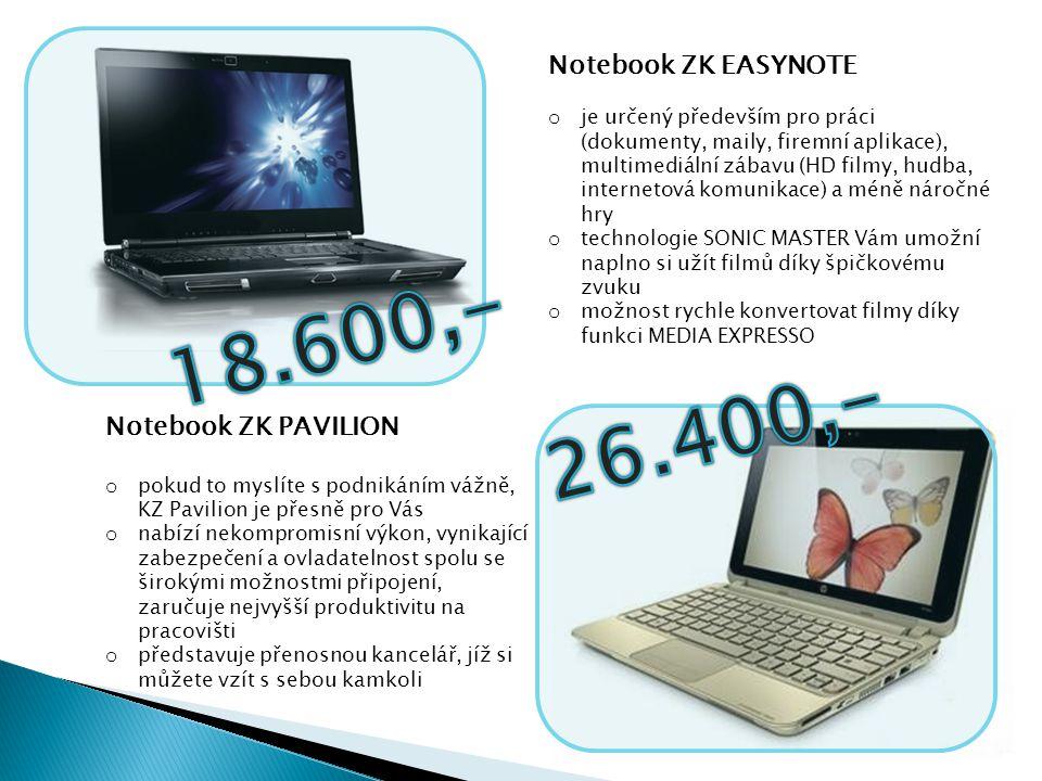 Notebook ZK PAVILION o pokud to myslíte s podnikáním vážně, KZ Pavilion je přesně pro Vás o nabízí nekompromisní výkon, vynikající zabezpečení a ovlad