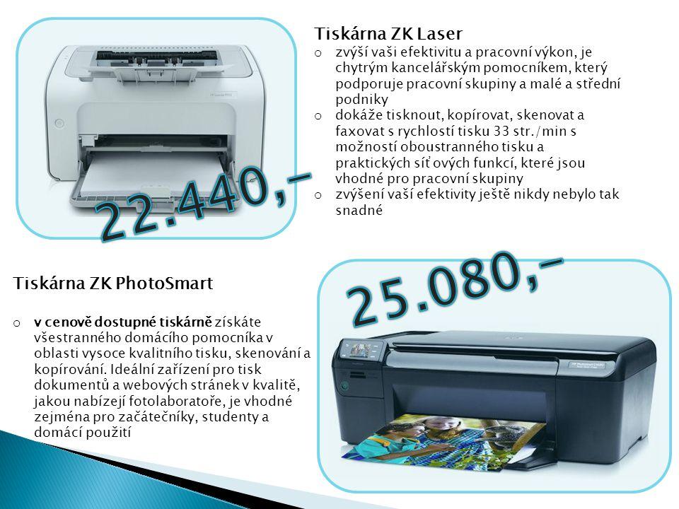 Tiskárna ZK Color LaserJet o navržena tak, aby zjednodušila práci v kanceláři o úsporný design představuje vysoce produktivní, uživatelsky přívětivé zařízení, které v sobě integruje funkce barevného tisku, skenování, kopírování a faxování - (fax je volitelný) o zjistíte, že je ideální pro zvládnutí vašich potřeb ohledně zpracování kancelářských dokumentů Skener Perfection ZK V500 o vysoce kvalitní, rychlý skener s rozlišením 6400 DPI a pokročilými technologiemi DIGITAL ICE pro Vaše filmy a fotografie o automatický podavač na 30 listů, bez nutnosti zahřívání o oceníte možnost zkontrolovat každý detail obrazu díky oknu náhledu s proměnlivou velikostí