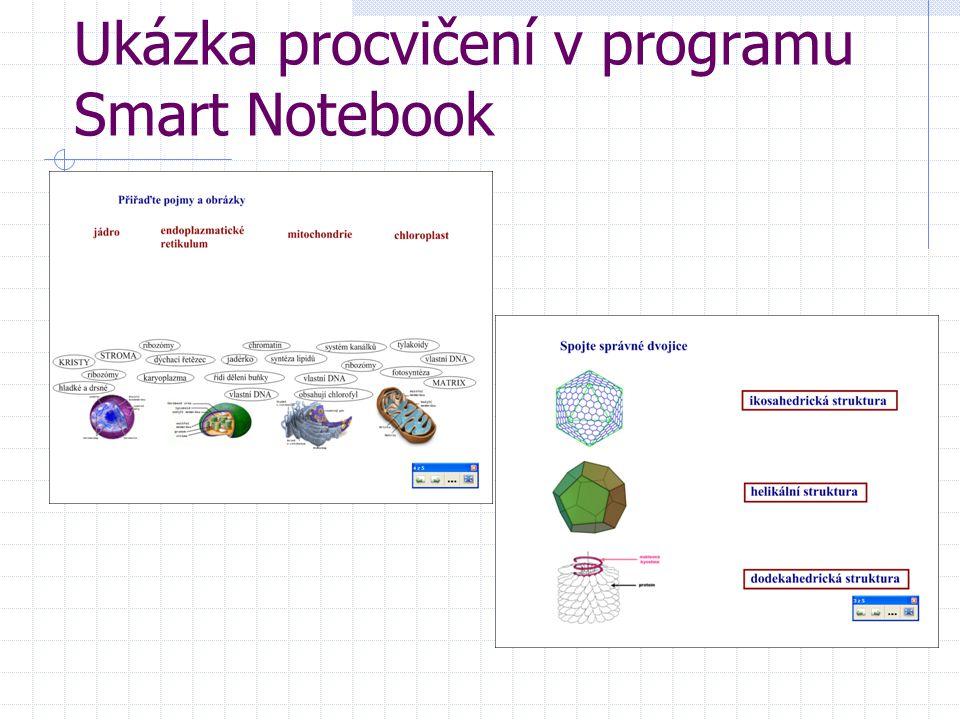 Ukázka procvičení v programu Smart Notebook