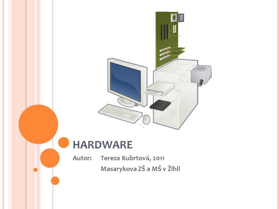 RŮZNÉ TYPY POČÍTAČŮ PDA – Personal Digital Assistent (osobní digitální asistent) PC – Personal Computer (osobní počítač) Mainframe – výkonné počítače používané ke zpracovávání velkých objemů dat (sčítání lidu, bankovní převody,...) Notebook – přenosný počítač Tablet
