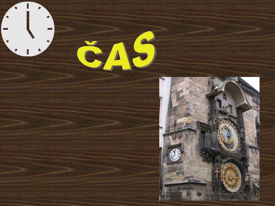 Zapamatuj a zapiš Čas je základní fyzikální veličina Značka …………..t Základní jednotka času je sekunda Další jednotky času jsou minuta, hodina, den, milisekunda