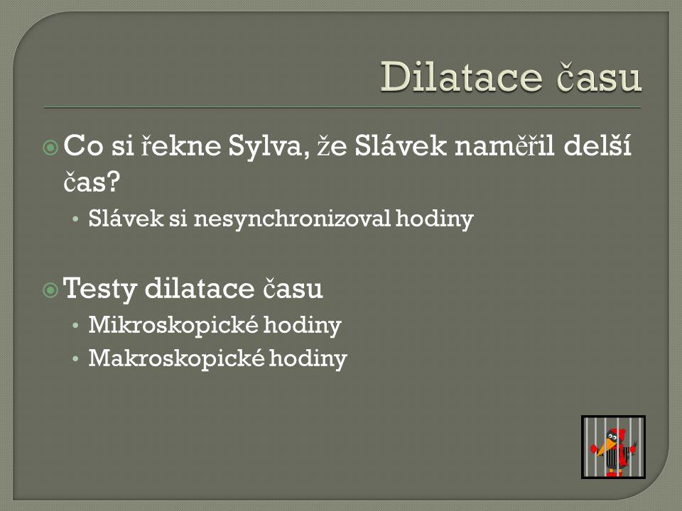  Co si ř ekne Sylva, ž e Slávek nam ěř il delší č as.