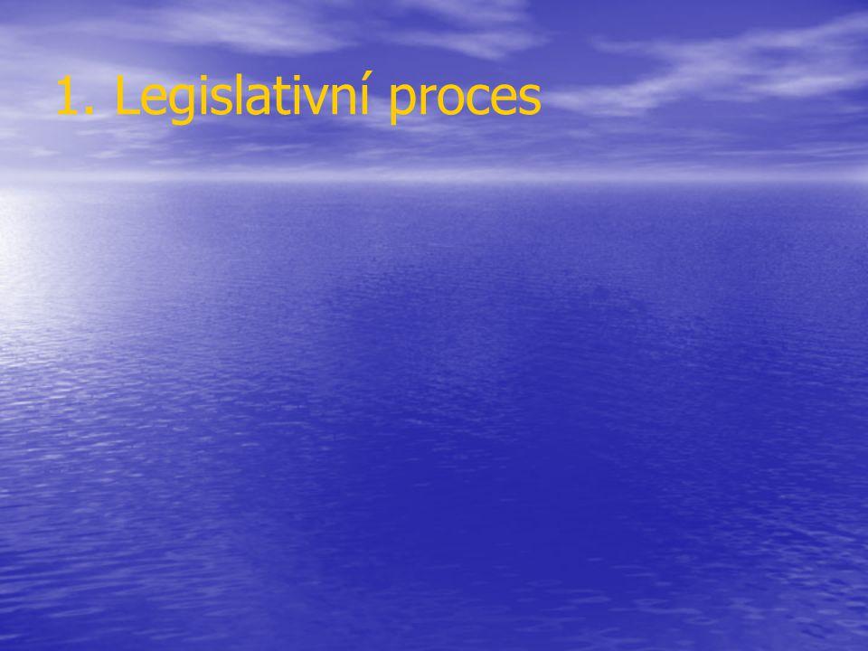 1. Legislativní proces