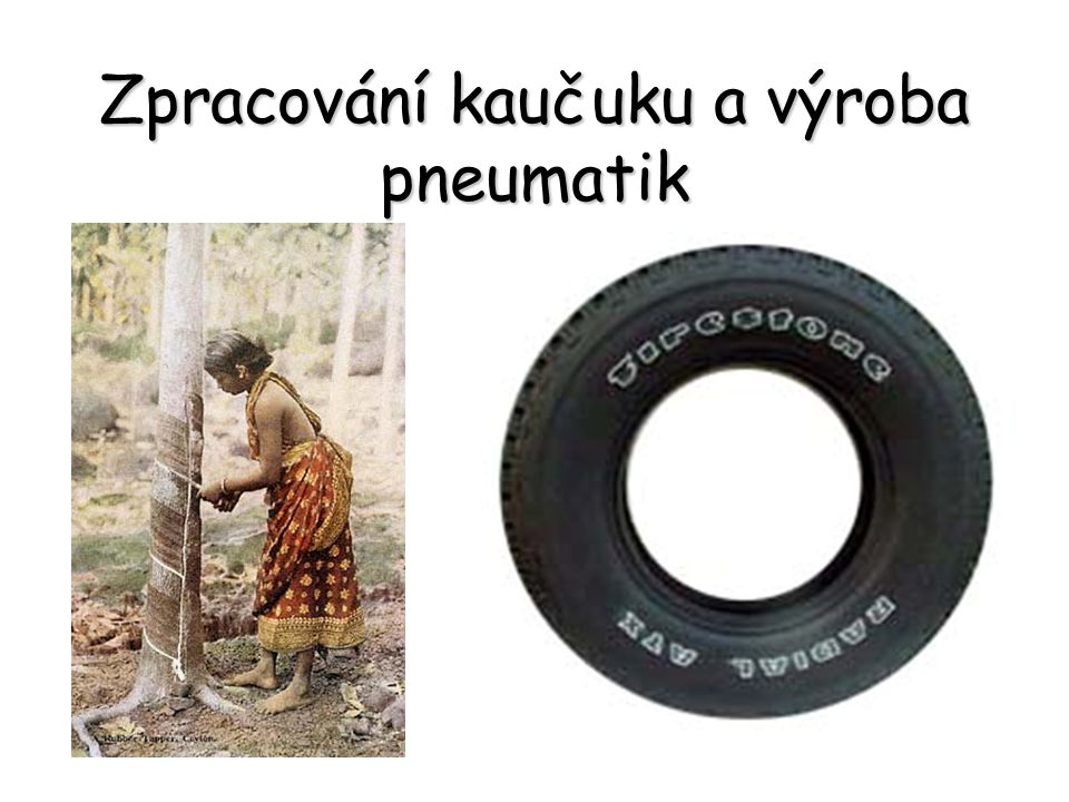 Zpracování kaučuku a výroba pneumatik