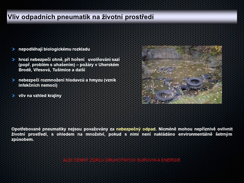 nepodléhají biologickému rozkladu hrozí nebezpečí ohně, při hoření uvolňování sazí (popř. problém s uhašením) – požáry v Uherském Brodě, Vřesová, Tuši