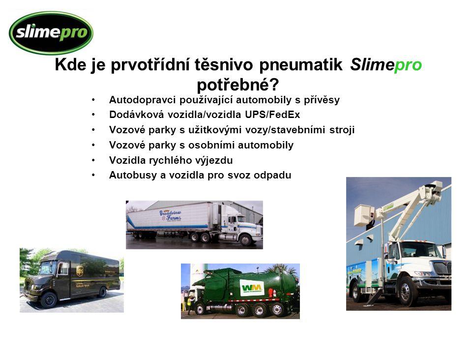 Autodopravci používající automobily s přívěsy Dodávková vozidla/vozidla UPS/FedEx Vozové parky s užitkovými vozy/stavebními stroji Vozové parky s osob