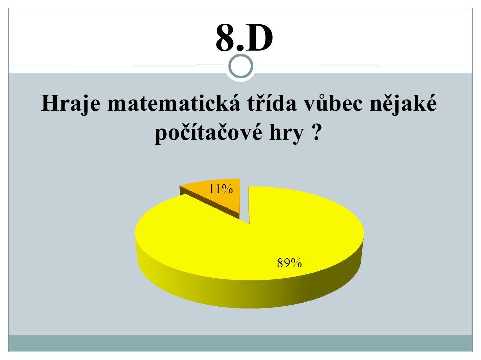 8.D Hraje matematická třída vůbec nějaké počítačové hry
