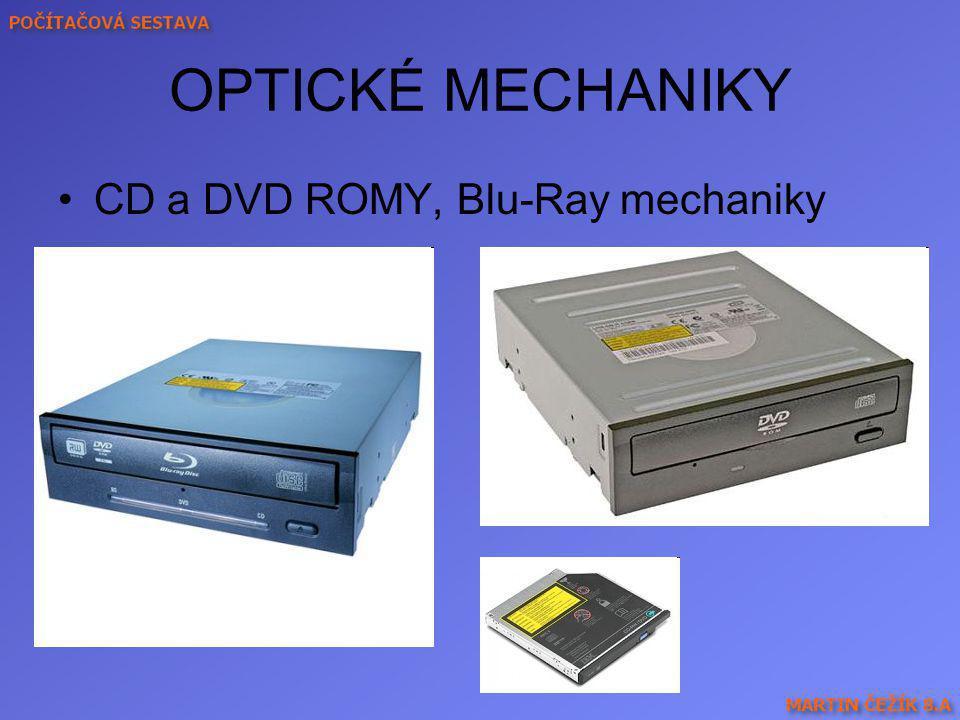 OPTICKÉ MECHANIKY CD a DVD ROMY, Blu-Ray mechaniky