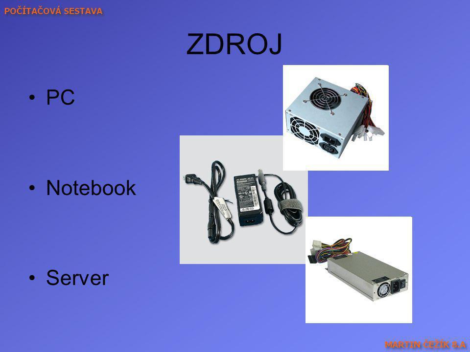 AGP sběrnice (nahoře) a dvě PCI sběrnice (dole)