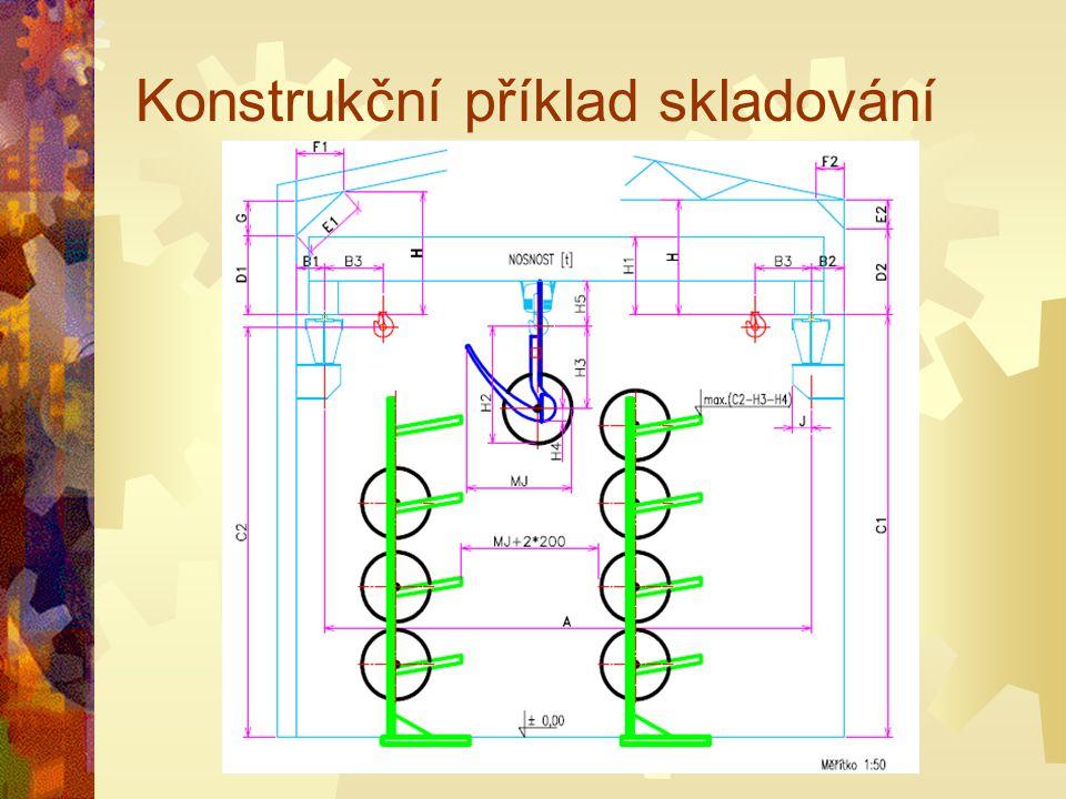 Konstrukční příklad skladování