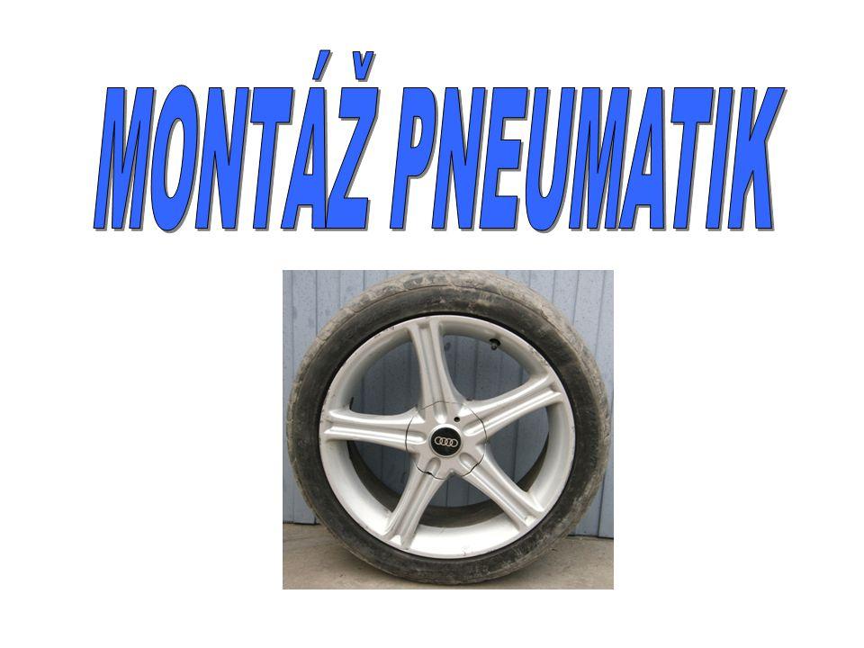 KONTROLNÍ OTÁZKY 1.Co je třeba provést jako první při demontáži pneumatiky.