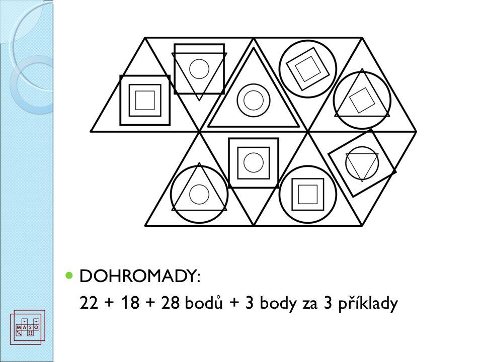 DOHROMADY: 22 + 1 8 + 28 bodů + 3 body za 3 příklady