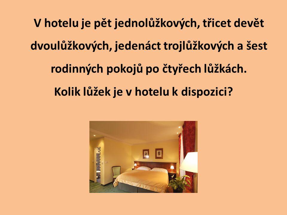 V hotelu je pět jednolůžkových, třicet devět dvoulůžkových, jedenáct trojlůžkových a šest rodinných pokojů po čtyřech lůžkách.