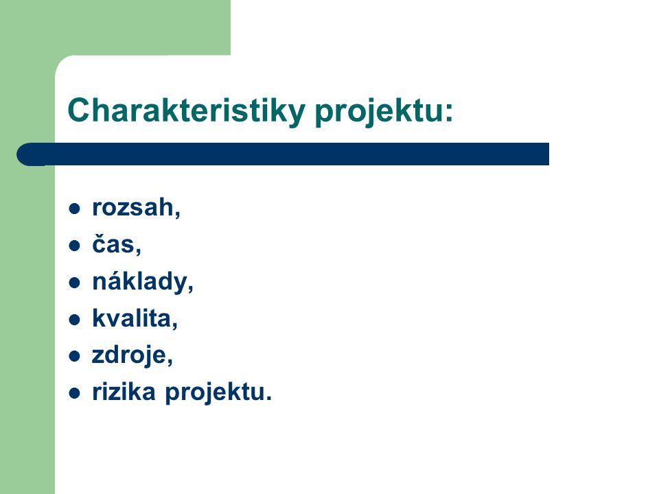 Analýzy zaměřené na charakteristiky: Časová analýza projektů.