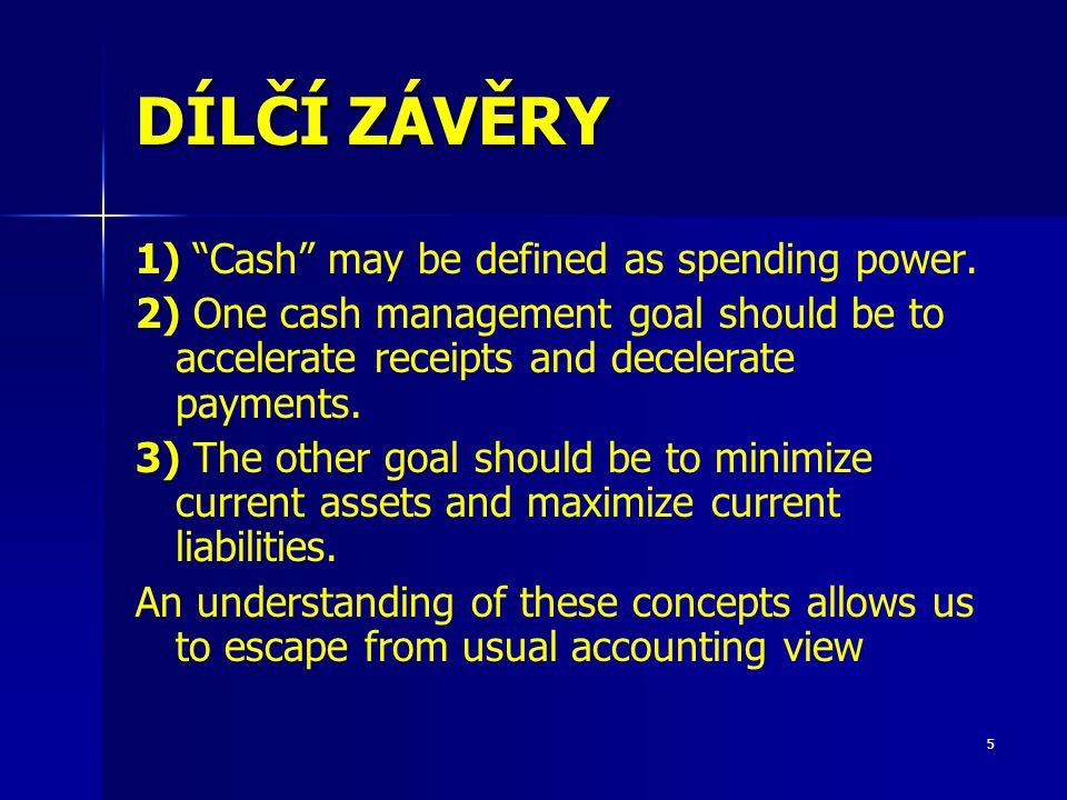 16 FIM - ŘÍZENÍ CASHFLOW VE STAVEBNÍM PODNIKU Plánování CF (Cash Budgeting) 5 Operativní plány CF – (Cash Forecasting) Každodenní vynakládání peněz je usměrňováno pomocí dvou typů dokumentů – Operativní výhled na dva měsíce po týdnech (lépe plánovat např.