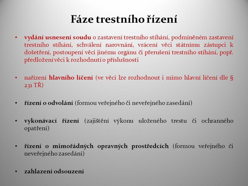 Formy soudních rozhodnutí činěných v rámci hlavního líčení A/ rozsudek  viz § 120 a násled.