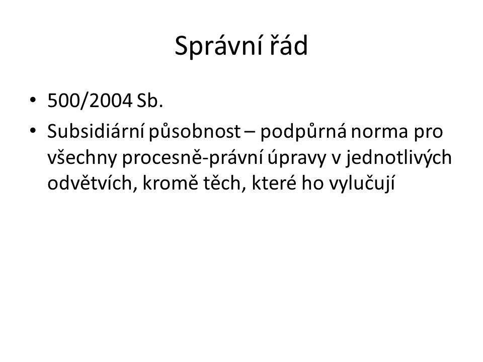 Správní řád 500/2004 Sb.