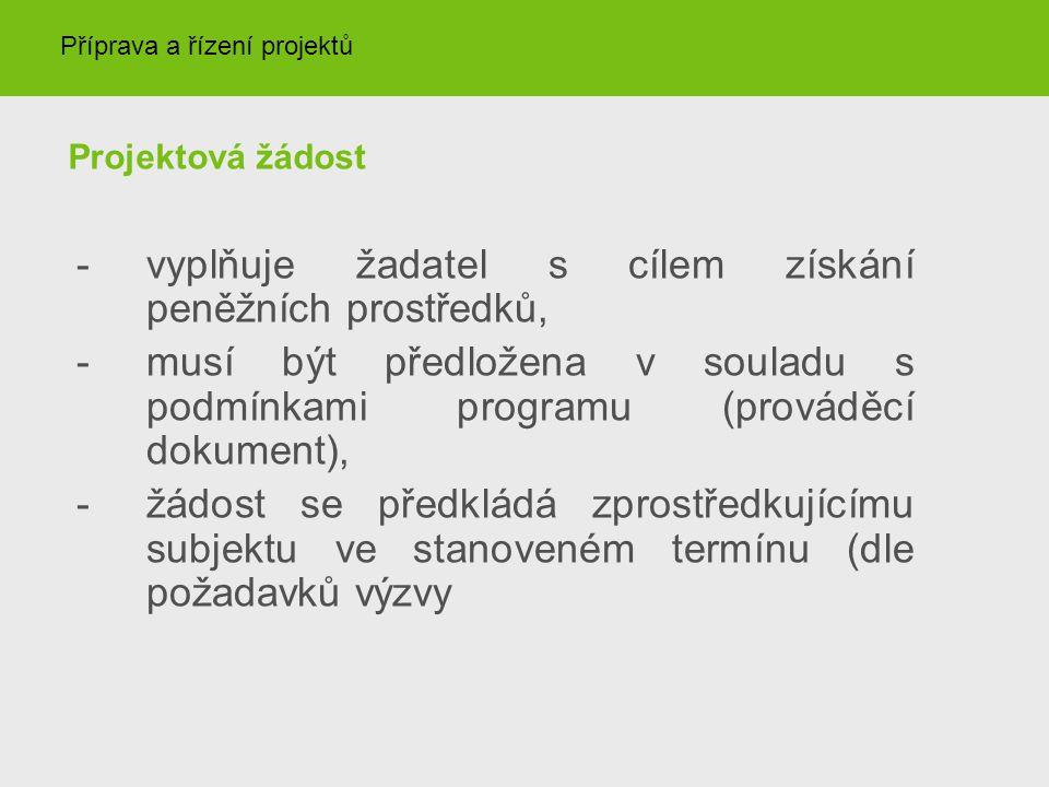 Finalizace projektové žádosti Žádost finálně uložte, vygeneruje se pro ni kontrolní kód – kód tištěné a el.