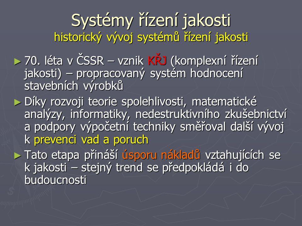 Systémy řízení jakosti historický vývoj systémů řízení jakosti ► 70.