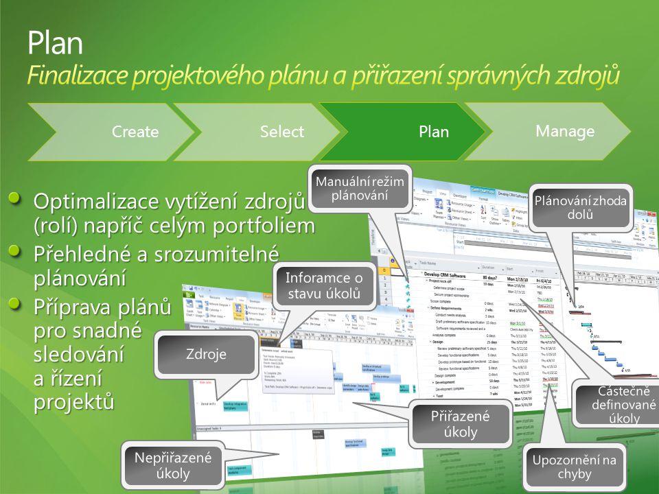 Manage Select Create Plan