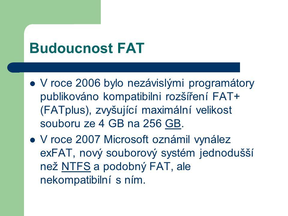 Budoucnost FAT V roce 2006 bylo nezávislými programátory publikováno kompatibilni rozšíření FAT+ (FATplus), zvyšující maximální velikost souboru ze 4