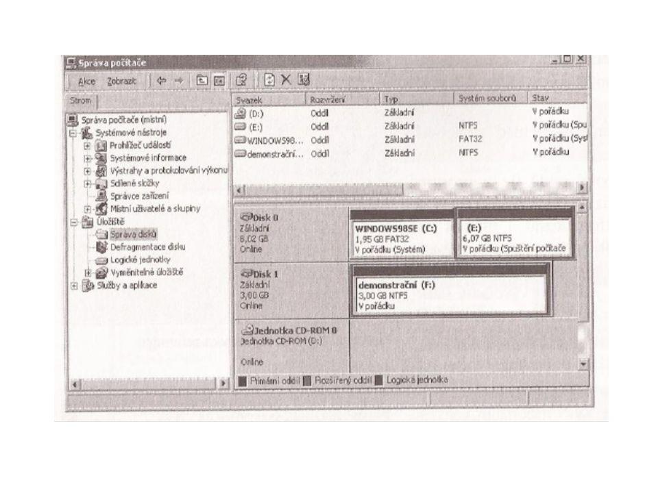 Používají se dva systémy souborů: 1.Systémy souborů FAT (file allocation table,rozlišeny počtem bitů v alokačních tabulkách souborů): max.svazek(oddíl) max.velikost souboru FAT16: 4GB 2GB FAT32: 32GB 4GB exFAT: 2TB 32GB Pokud se FAT používá bez čísla, označuje souhrnně FAT16 a FAT32.