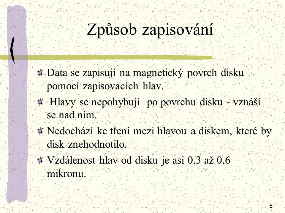 4 Části pevných disků Médium, na kterém jsou uložená data.