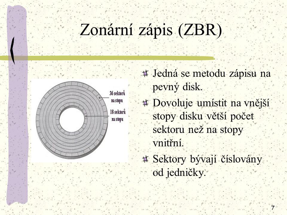 6 Počet hlav disku je shodný s počtem aktivních ploch.