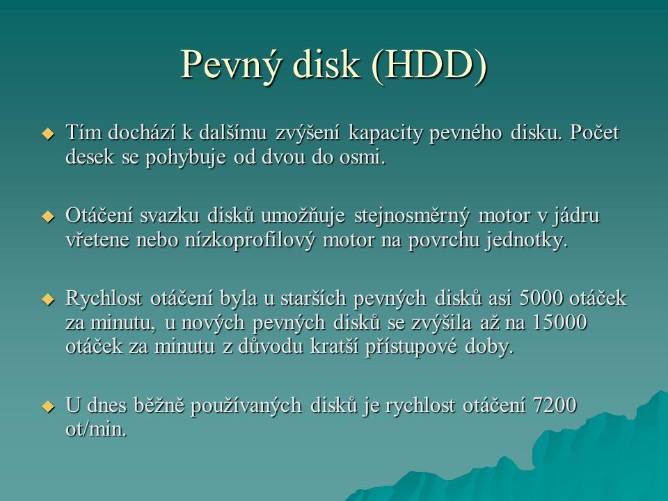 Pevný disk (HDD)  Tím dochází k dalšímu zvýšení kapacity pevného disku.