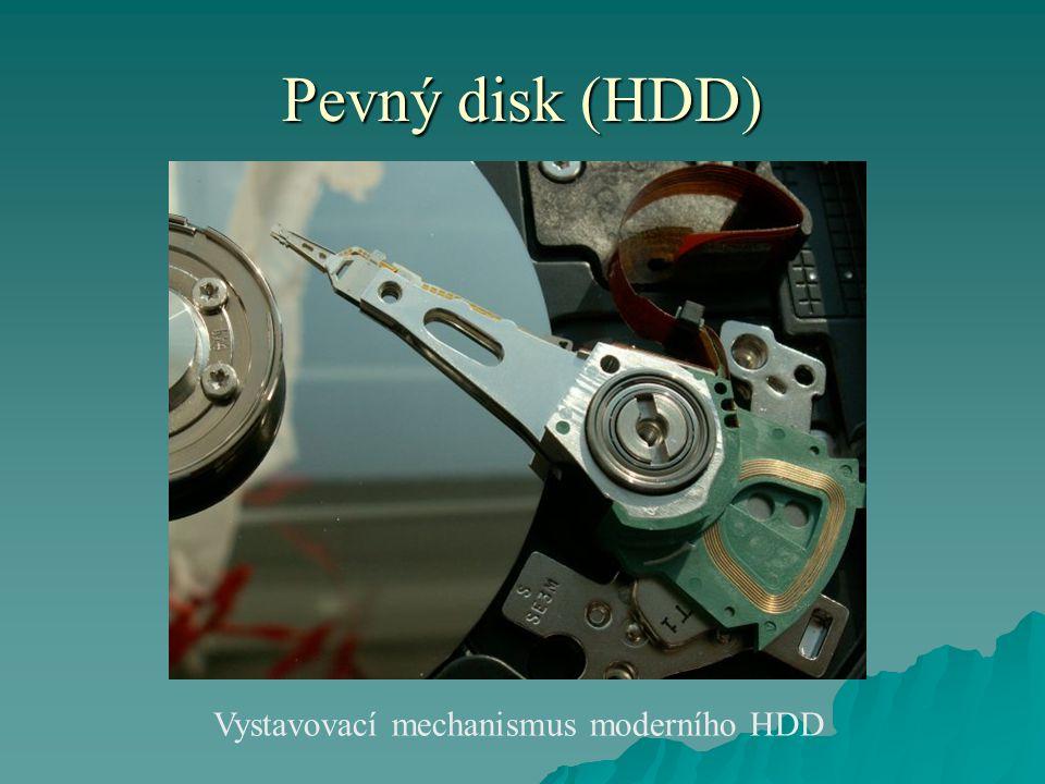 Pevný disk (HDD) Vystavovací mechanismus moderního HDD