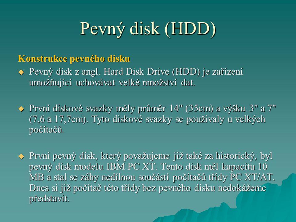 Pevný disk (HDD) Konstrukce pevného disku  Pevný disk z angl.